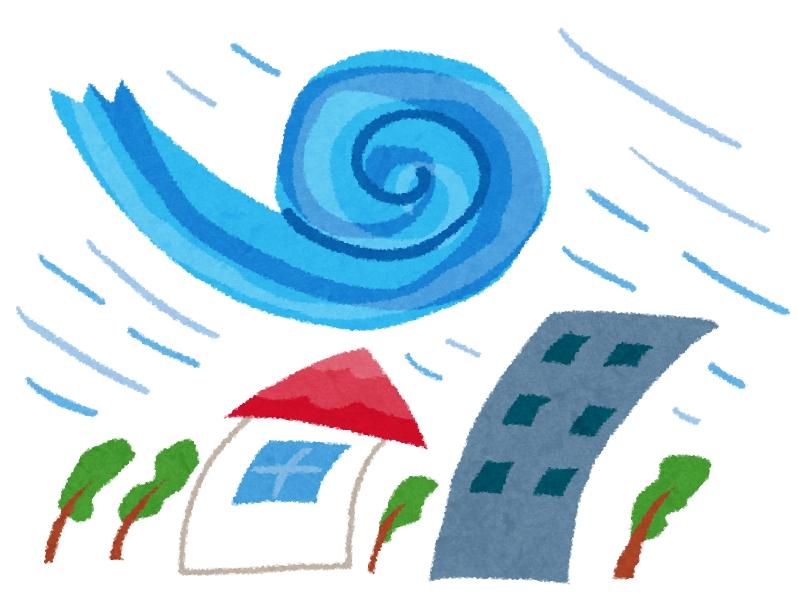 今更ですが、台風が発生した場合の備えはしっかりと。