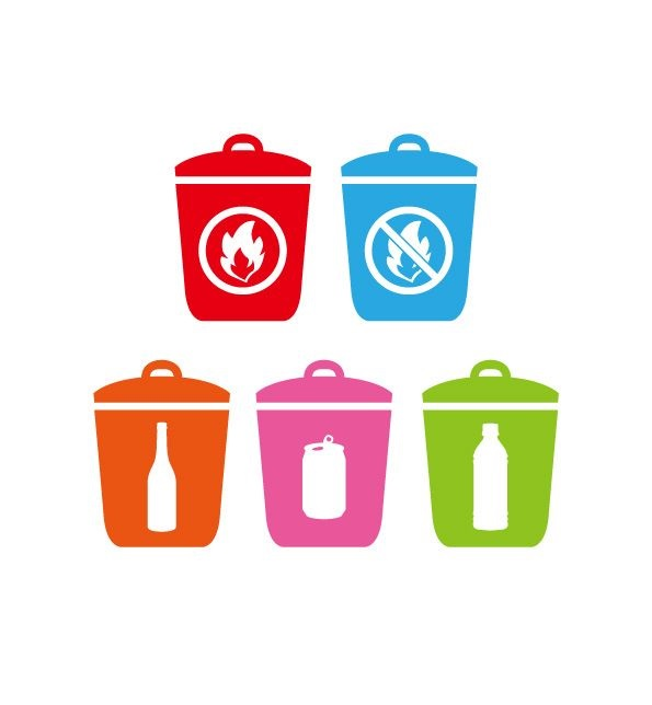 ゴミの分別、地域によって異なります。